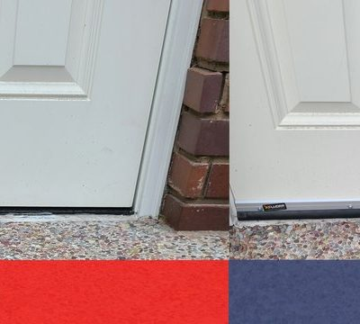 Rodent proofing a door by installing an Excluder door sweep is essential to prevent Rodents from gaining entry into a structure.