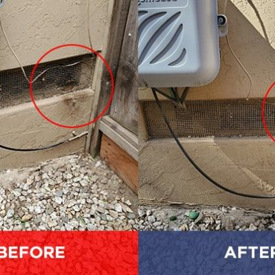 Pest Control - General Pests - Exclusion Vent 1 for Rodents, (Rats & Mice) Before & After.
