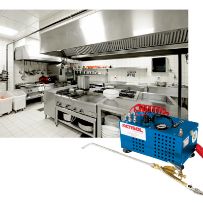 Actisol machine used to treat severe German Cockroach infestations.