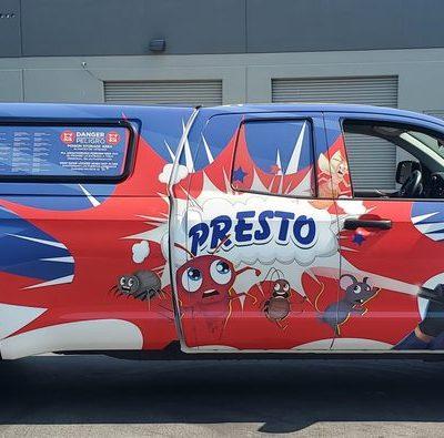 Presto Pest Control's Response Vehicle used to create Pest Free Environments.