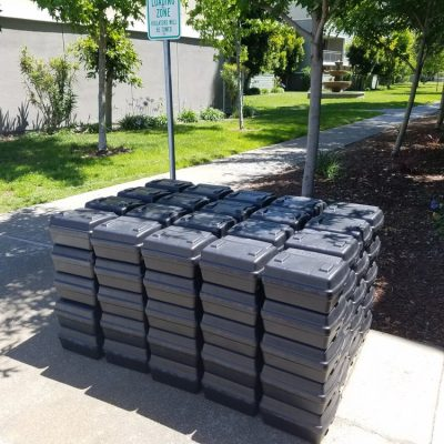 100 Rodent Bait Stations setup which took 2.5 hours & 10.5 hours total to install at a 26 acre apartment complex.